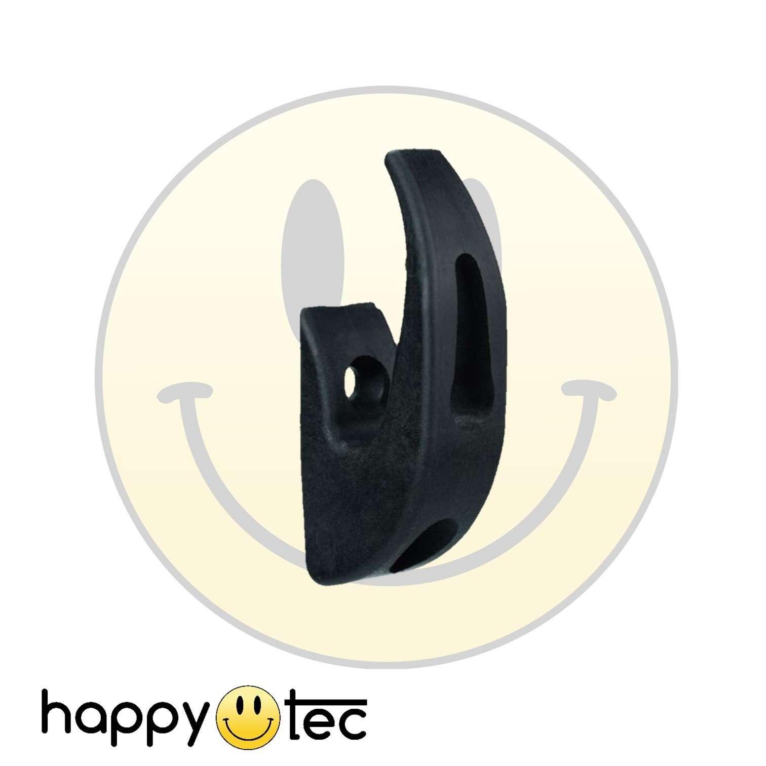 Gancio portaoggetti nero da manubrio per monopattini elettrici