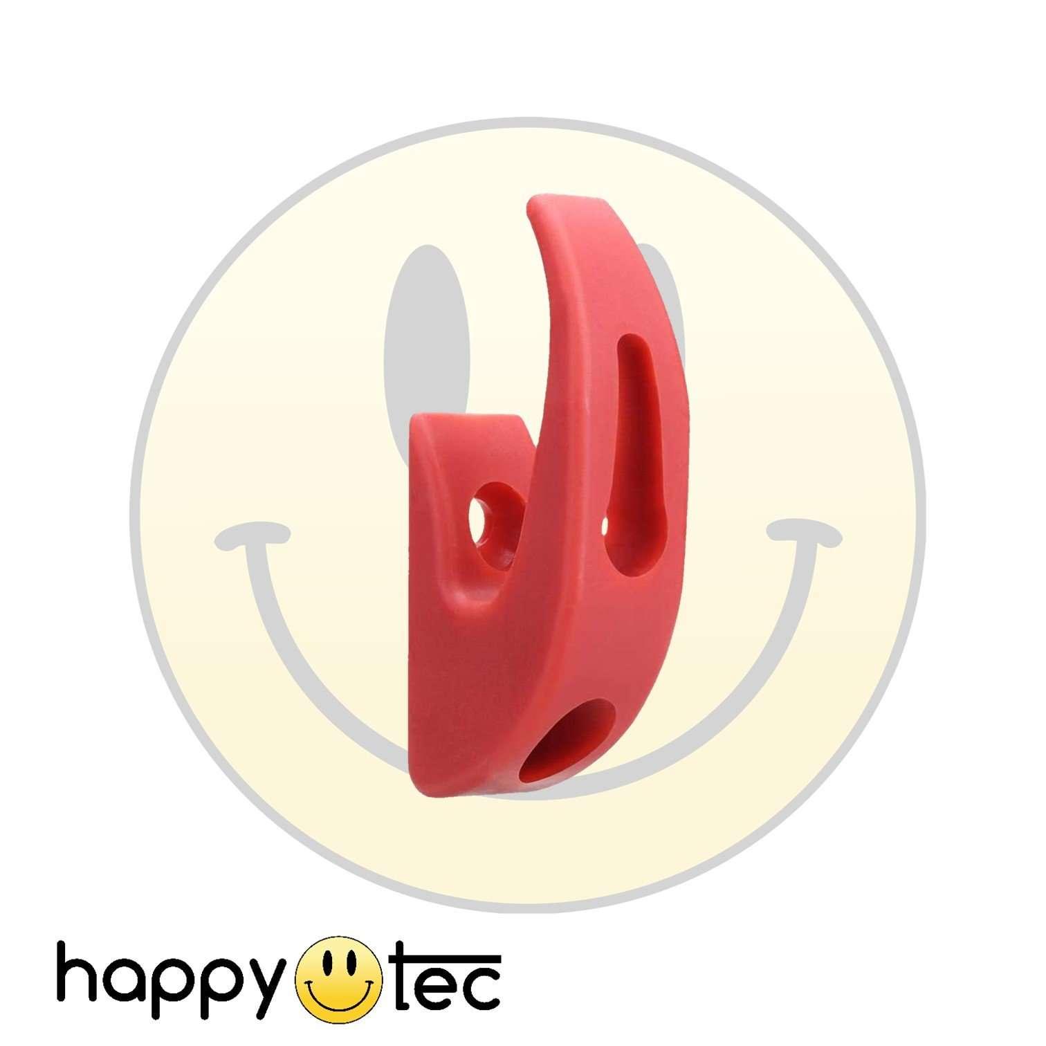 Gancio portaoggetti rosso da manubrio per monopattini elettrici