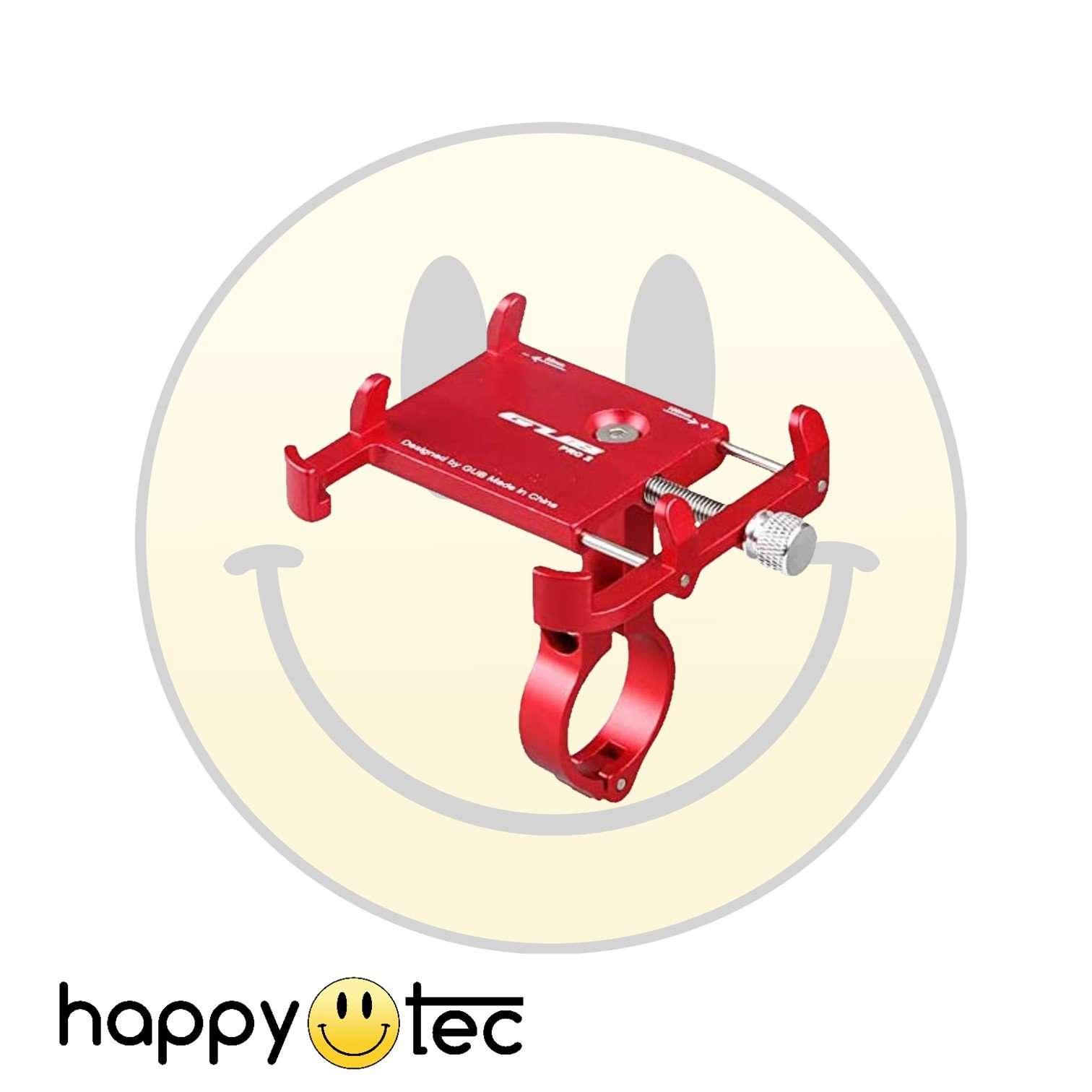 Porta cellulare in metallo rosso per manubrio monopattini elettrici (Mod. GUB)