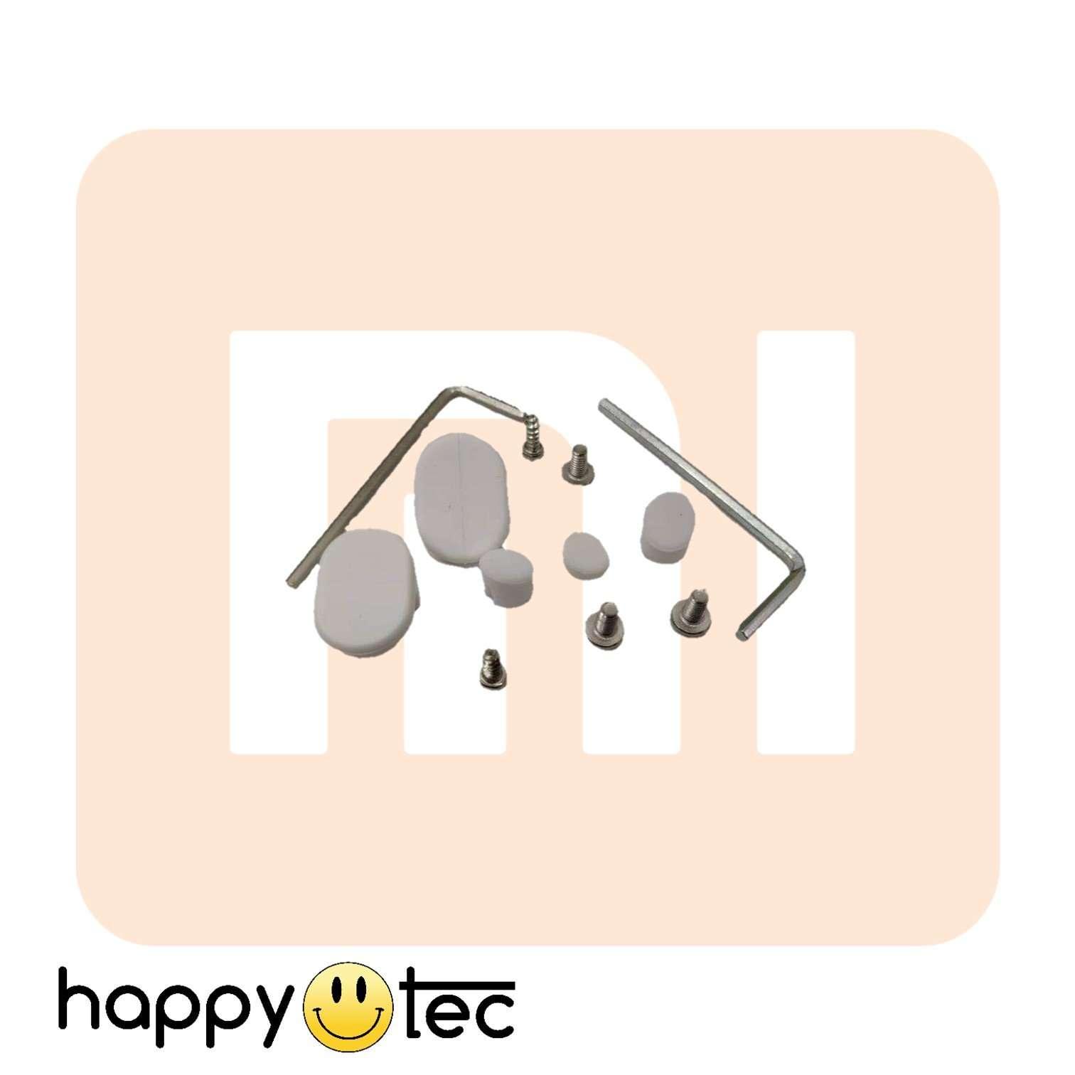 Set gancio posteriore parafango + gommini copri-viti per Xiaomi e cloni - bianco