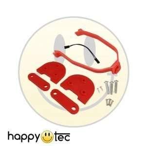 Kit spessori per installazione ruote 10 pollici con staffa per parafango - Rosso / Rosso