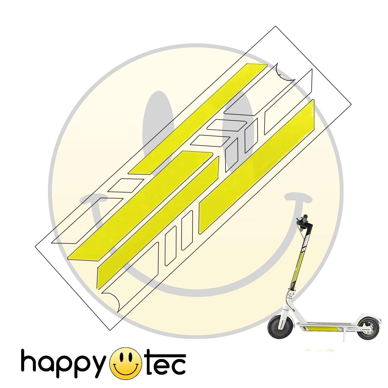 Sticker adesivi catarifrangenti giallo-argento per Xiaomi e cloni V2
