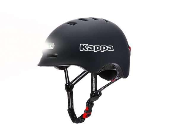 Casco con luce anteriore e posteriore Kappa