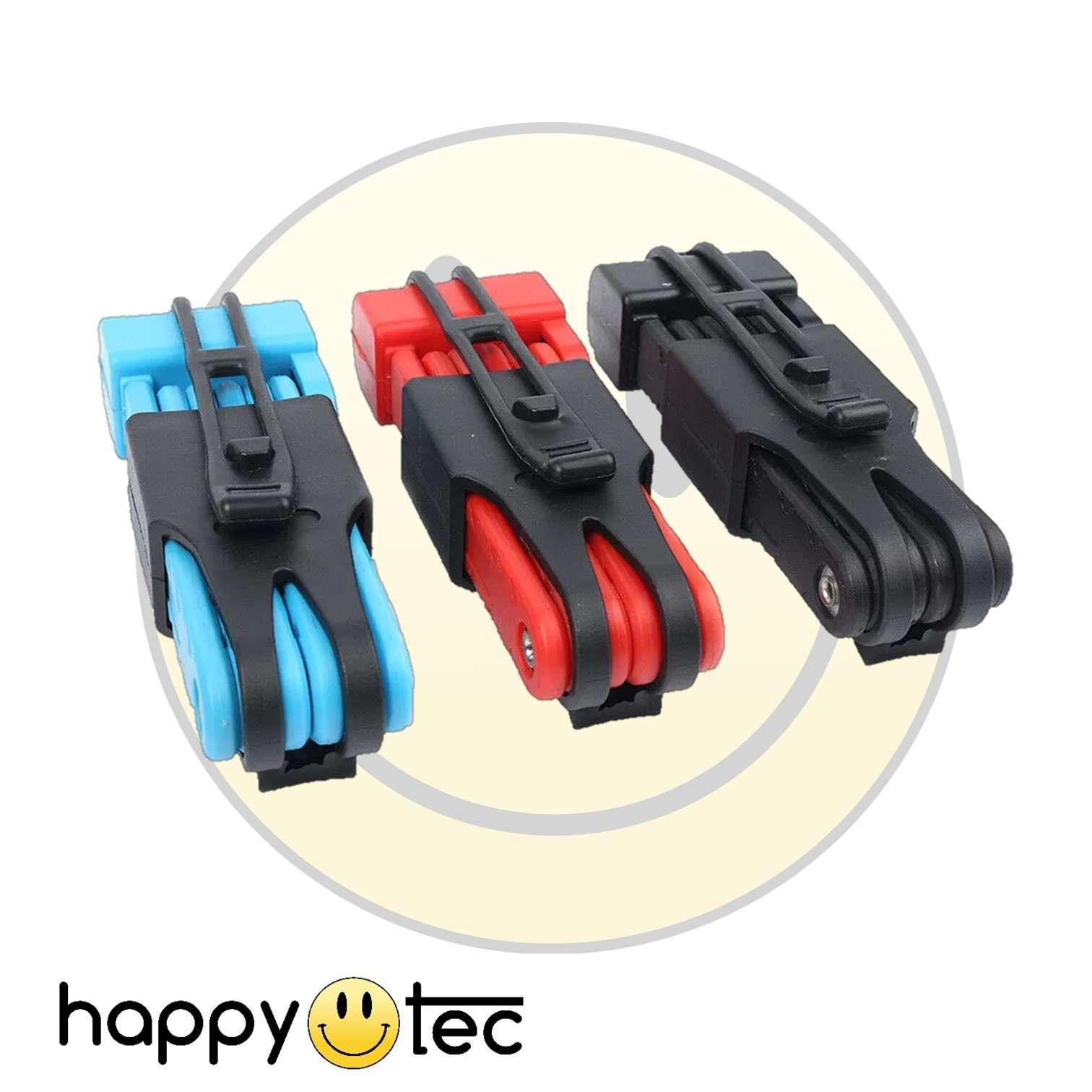 Lucchetto a catena pieghevole in acciaio antifurto per bici e monopattino Azzurro