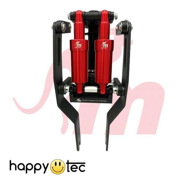Ammortizzatore anteriore Monorim a doppio pistone per monopattini Xiaomi - Pistone rosso