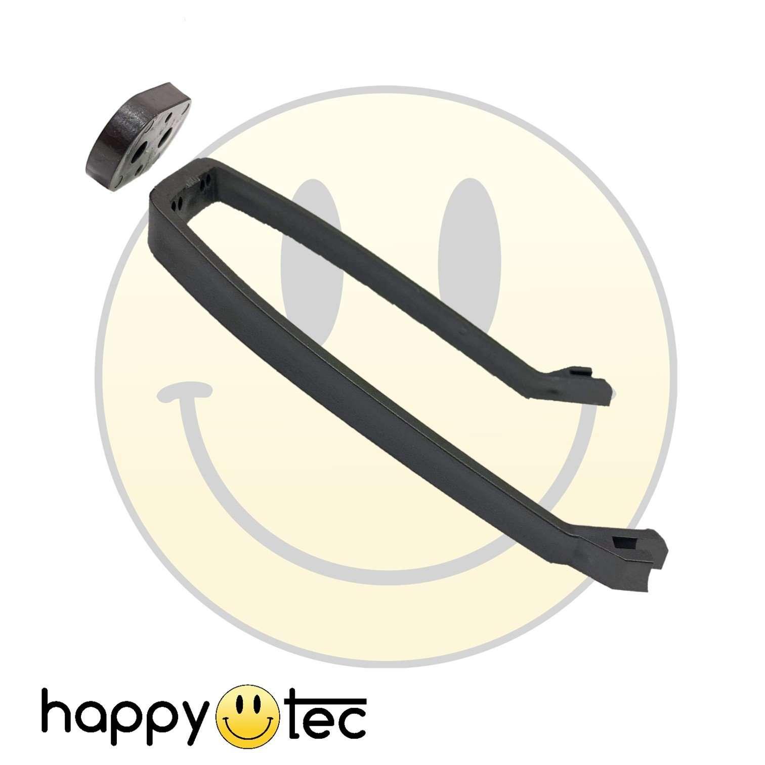 Staffa parafango posteriore nera per installazione da 8,5 pollici - V2